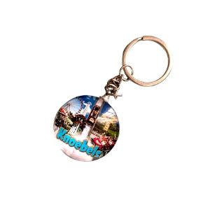 Knoebels Fabric Snap Key Chain Copy CAP-C-C2008