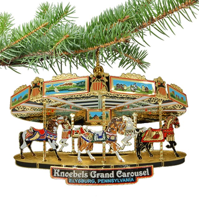 Ornament - Brass Grand Carousel 720808
